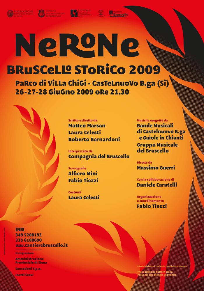 Manifesto bruscello storico 2009 Nerone