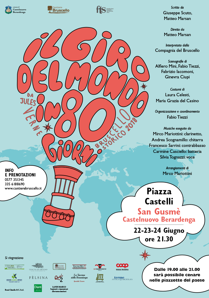 Bruscello storico di Castelnuovo Berardenga edizione 2018 - Il giro del mondo in 80 giorni
