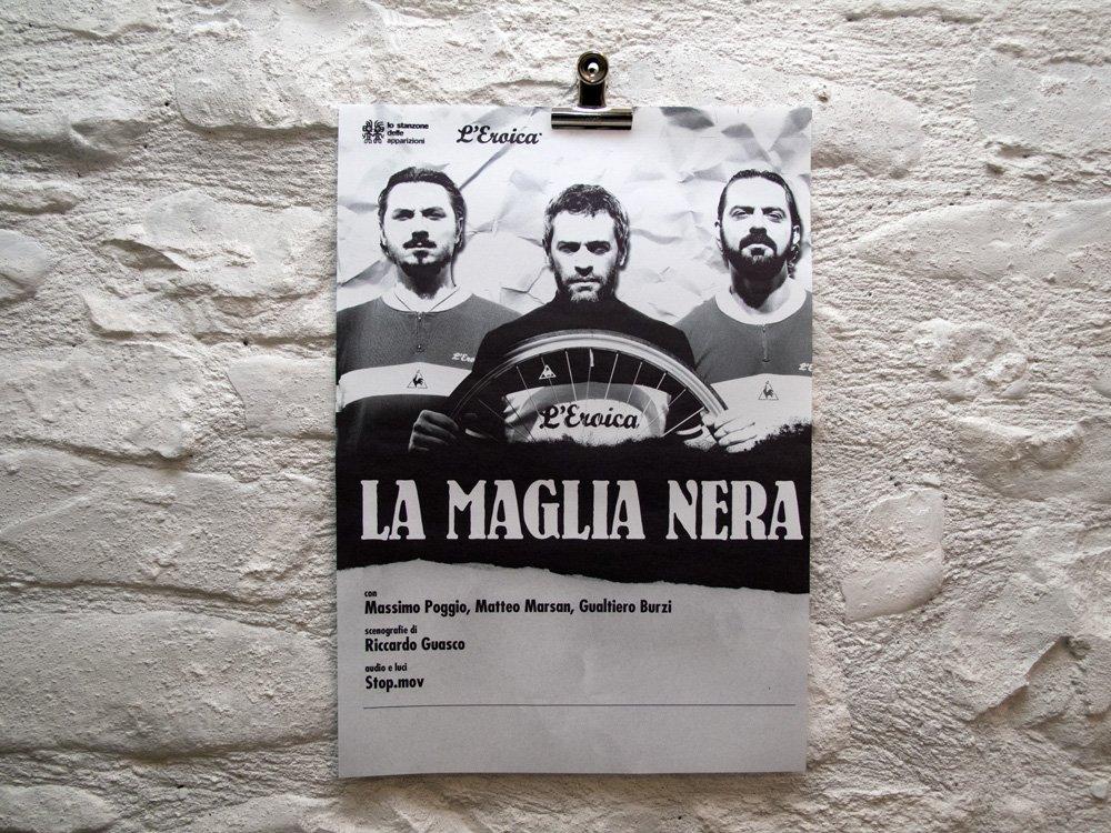 """Manifesto per spettacolo """"La Maglia nera"""""""
