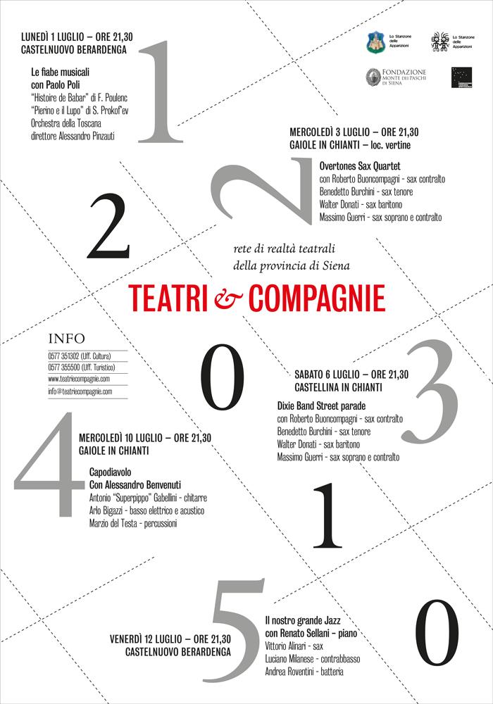 """Manifesto per rassegna """"Teatri e compagnie"""""""