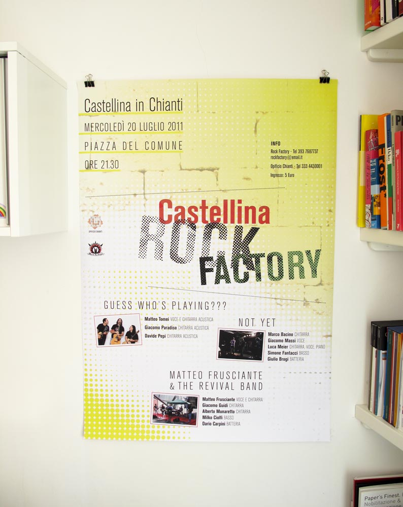 Manifesto per Castellina Rock Factory