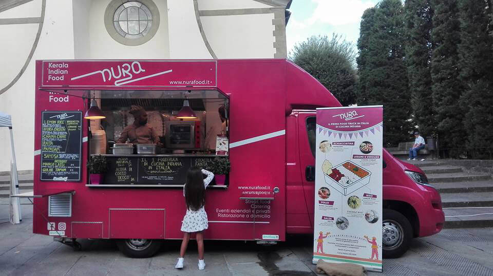 Nura food truck infografica roll-up