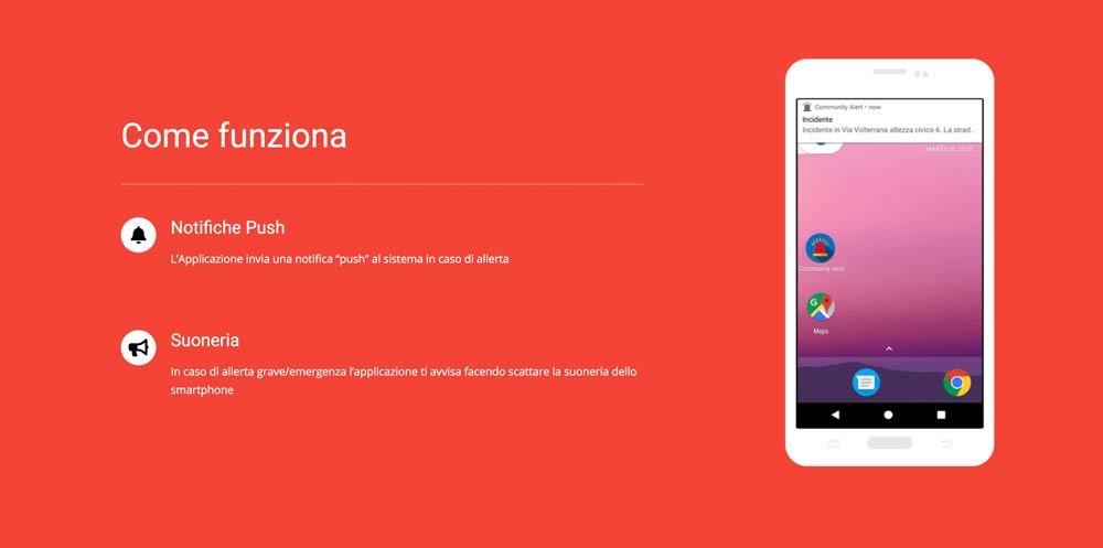 Community alert android app