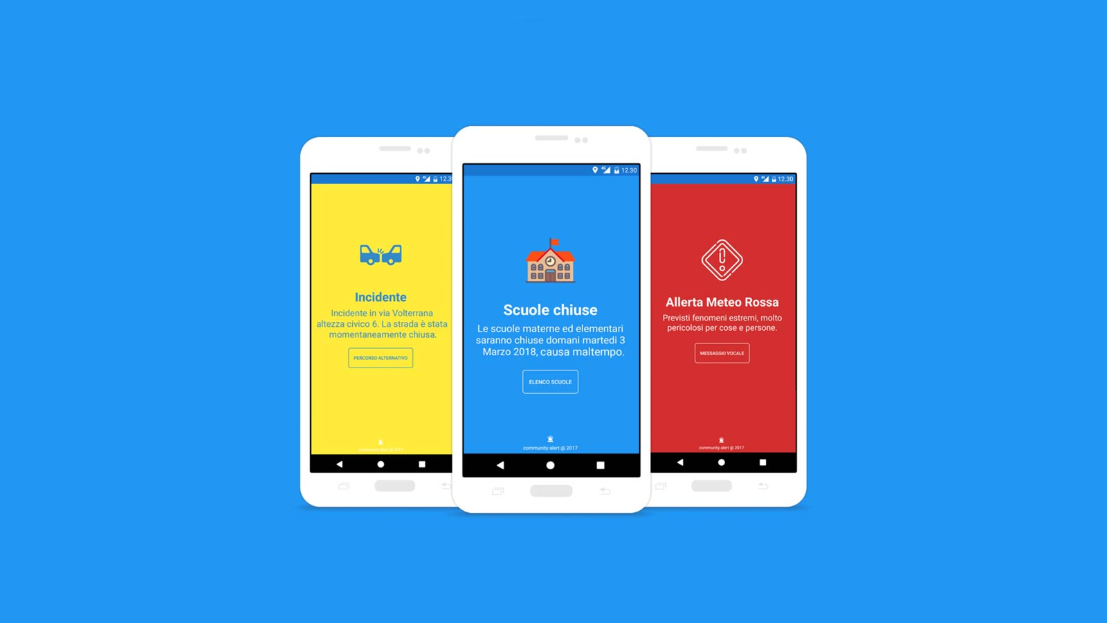 Community alert android app