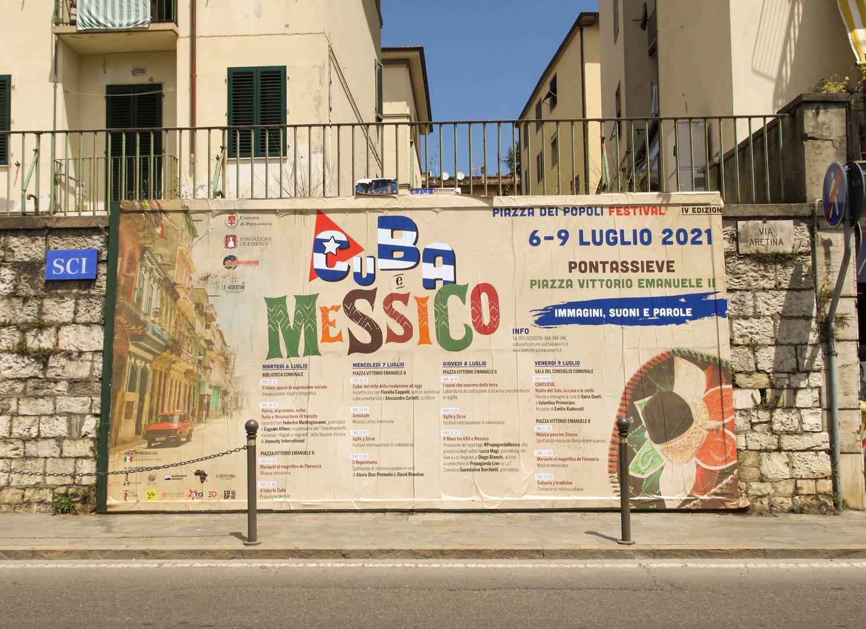 piazza dei popoli festival 2021 Cuba e Messico cartellone 6x3