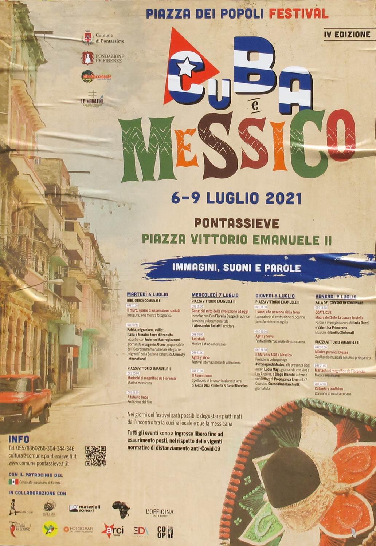 piazza dei popoli festival 2021 Cuba e Messico manifesto 70x100