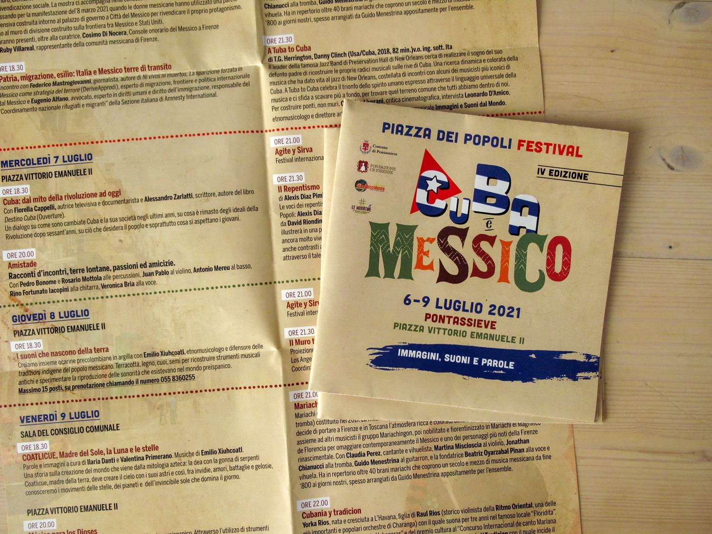 piazza dei popoli festival 2021 Cuba e Messico pieghevole